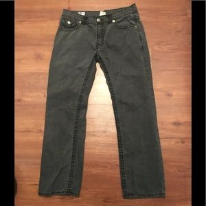 NEW True Religion Jeans Men's Joey Super T Black